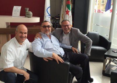Wolfgang Lechner und Dr. Khaled